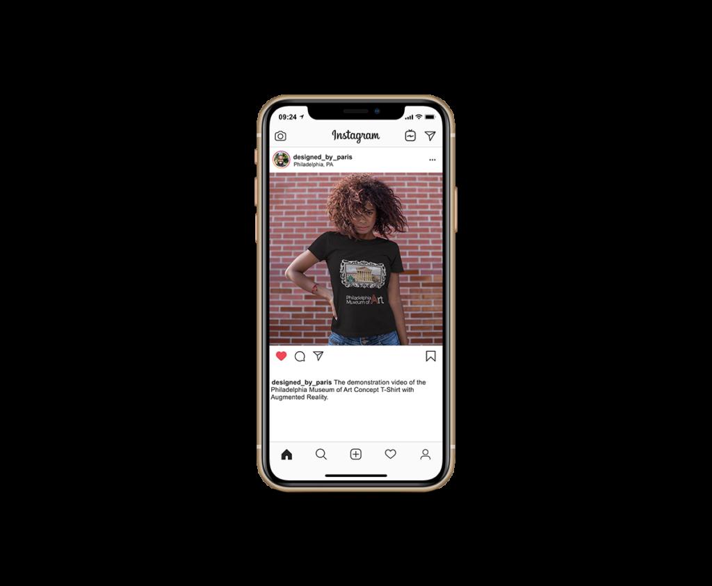 Designed by Paris Philadelphia Museum of Art Concept T-Shirt Instagram 1